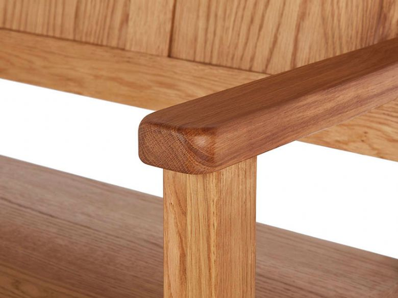 Oak Monks Bench Arms