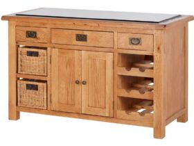 Fairfax Oak Kitchen Island With Stone Top