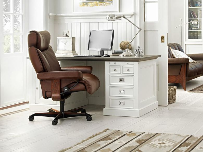 Stressless Magic Leather Office Chair by Ekornes