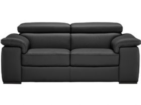 Leather Electric Recliner Loveseat  - Split