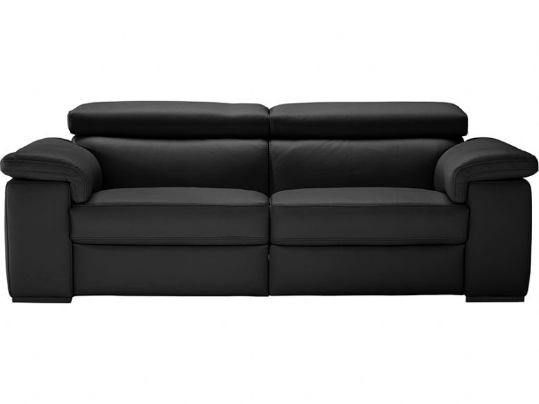Leather 3 Seater Electric Recliner Sofa - Split