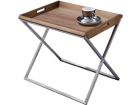 Raffi Walnut Tray Table