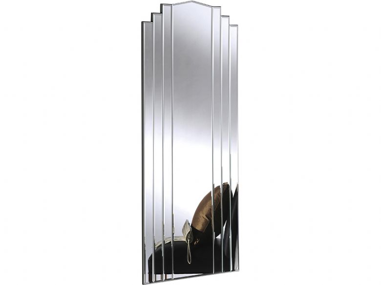Silver all glass long mirror lee longlands for Long glass mirror