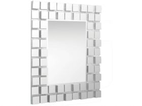 Large Mirror With Glass Tile Effect Frame