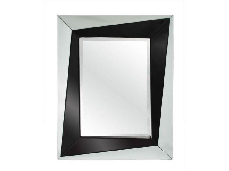 Large Angle Framed Mirror