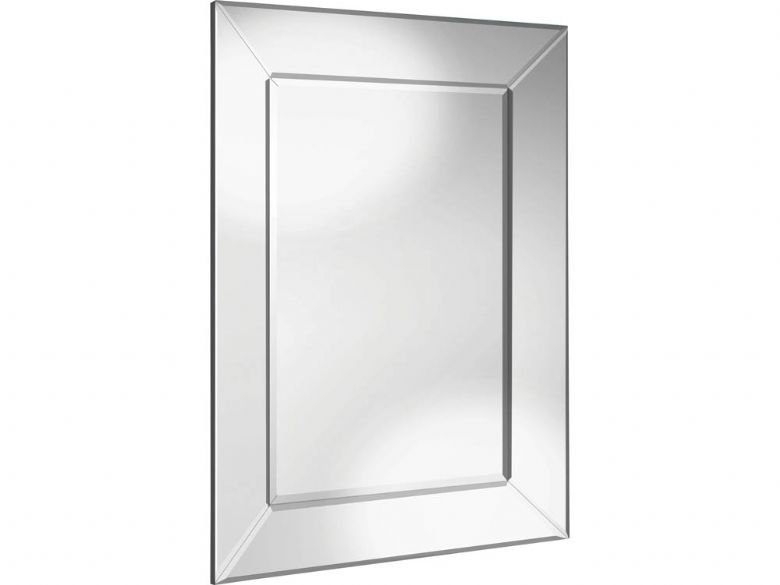 Angled Outer Frame All Glass Mirror
