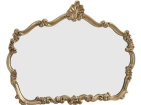 Large Gold Leafed Overmantle Mirror