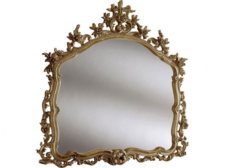 Ornate Gold Leaf Overmantle Mirror