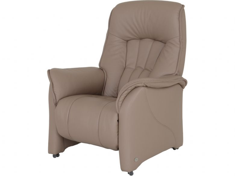 Himolla Rhine 2 motor electric recliner chair in taupe leather (earth)