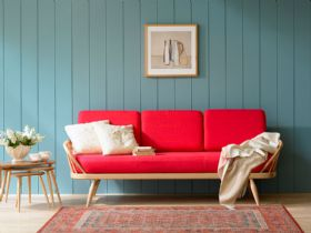 Ercol Originals studio couch and nest of tables