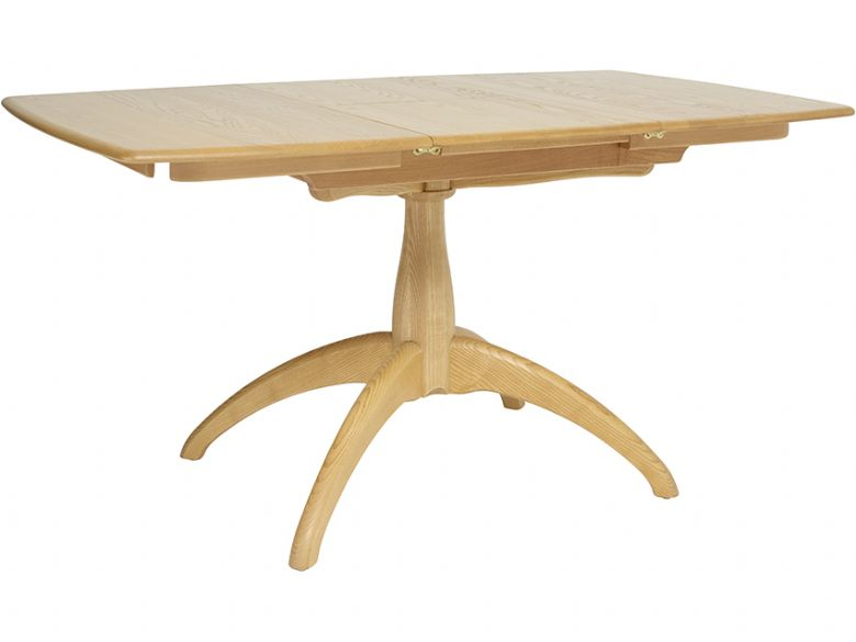 Ercol Windsor small extending pedestal table - extended