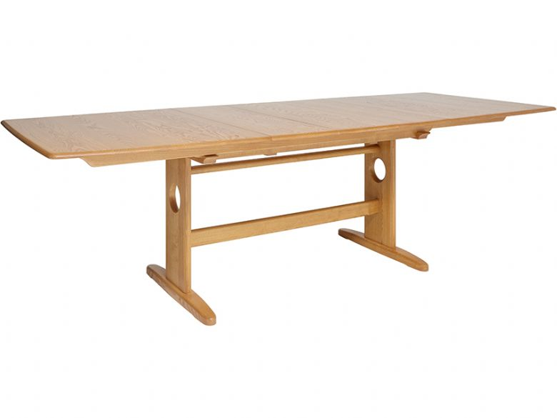 Ercol Windsor large extending dining table - extended