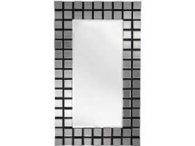 Multi Panel Grey Glass Mirror