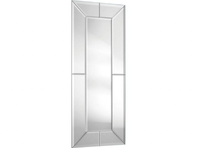 All Glass Contemporary Rectangular Mirror