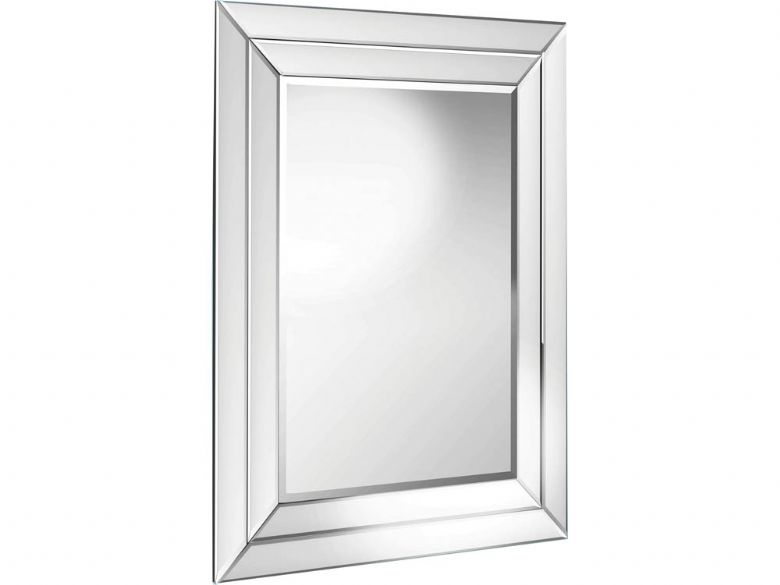 Double Angled Framed Mirror