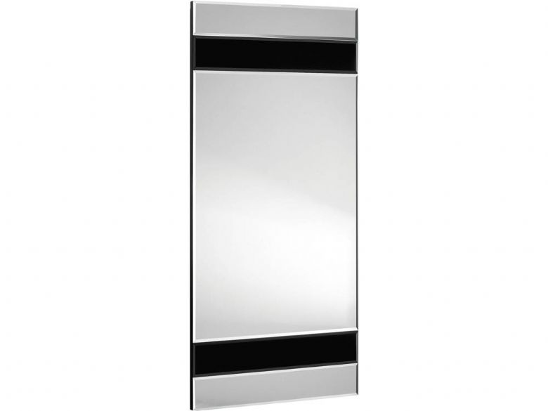 Contemporary Black Glass Mirror