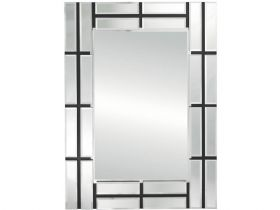 Black Stripe All Glass Mirror