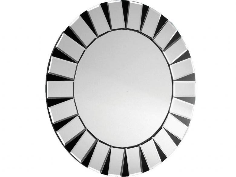 round All Glass Mirror Black & Silver Frame
