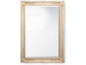 lassic Swept Frame Ornate Mirror - Ivory
