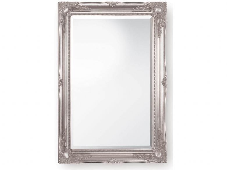 Classic Swept Frame Ornate Mirror - Silver