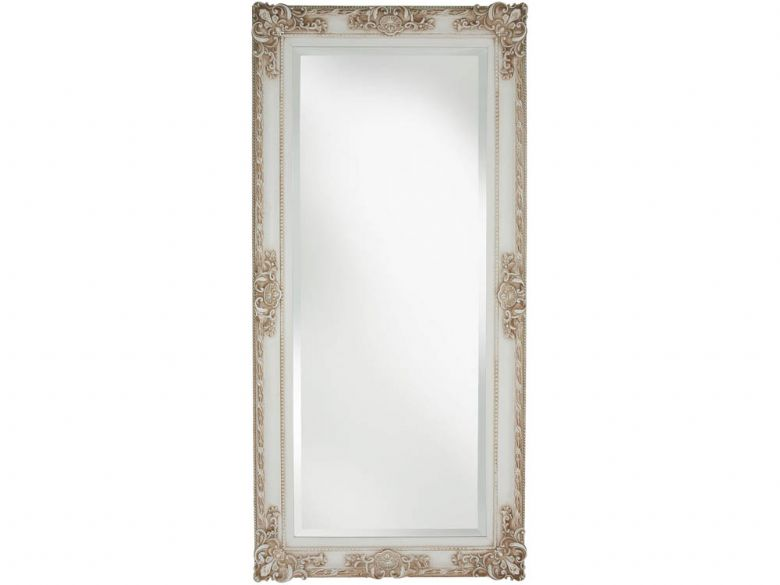 Classic Swept Frame Ornate Ivory Mirror