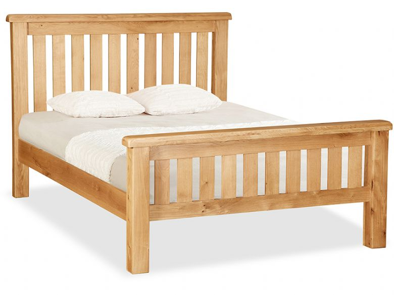 Fairfax oak slatted Bed frame