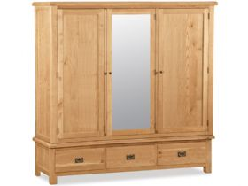 Oak Jumbo Triple Wardrobe
