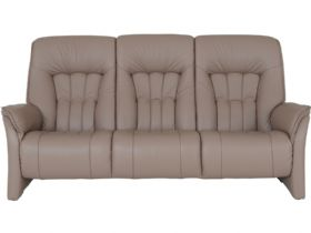 Himolla Rhine 3 seater electric recliner sofa in taupe leather (Earth)