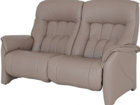 Himolla Rhine 2.5 seater electric recliner sofa in taupe leather (Earth)