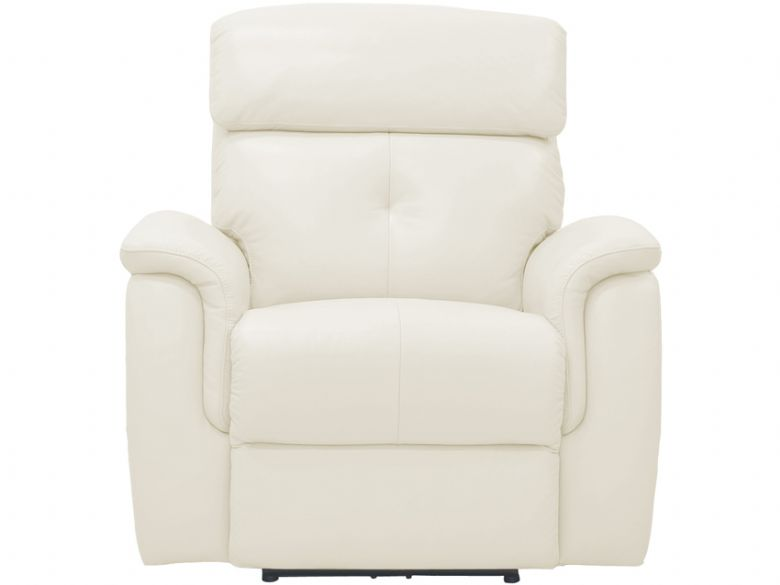 laccino leather manual recliner chair in white