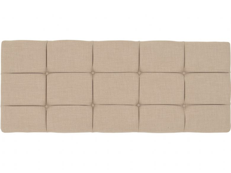 Pearl deep button backed strutted headboard