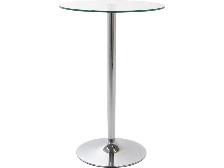 Bar Table Clear Glass