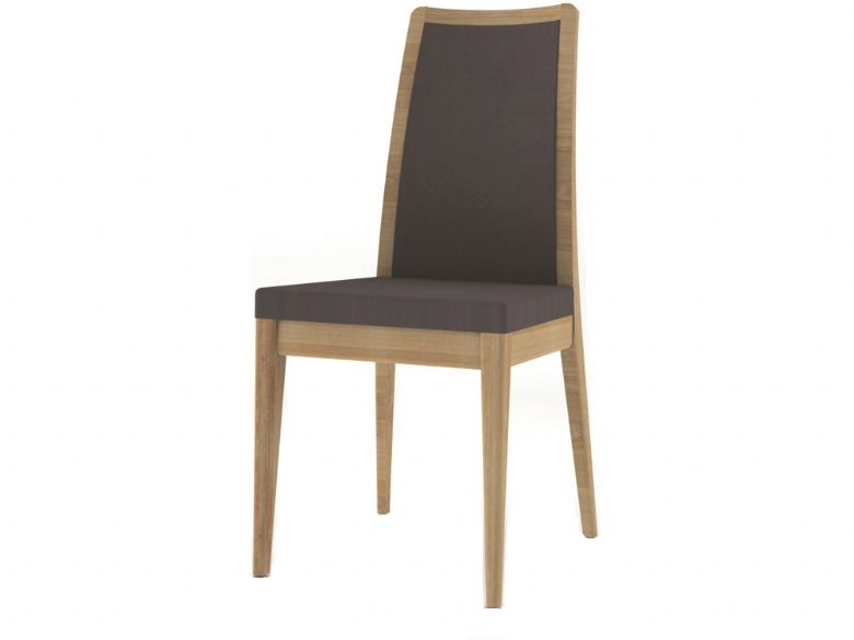 Oak Padded Back Dining Chair