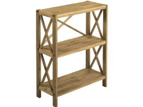 Duke Oak 3 Shelf Unit