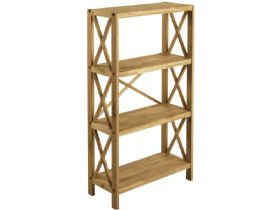 Duke Oak 4 Shelf Unit