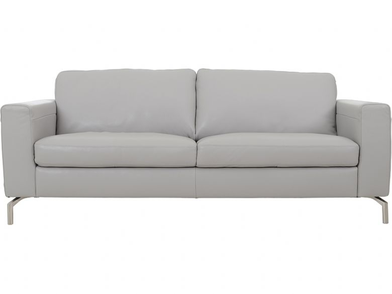 natuzzi editions vitelli leather sofa in grey - Natuzzi Sofa
