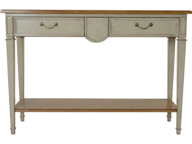 provence carte blanche 3 drawer console table lee longlands. Black Bedroom Furniture Sets. Home Design Ideas