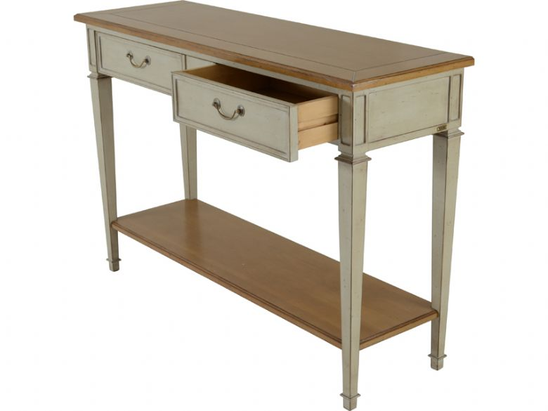 Provence carte blanche 3 drawer console table lee longlands - Table console blanche ...
