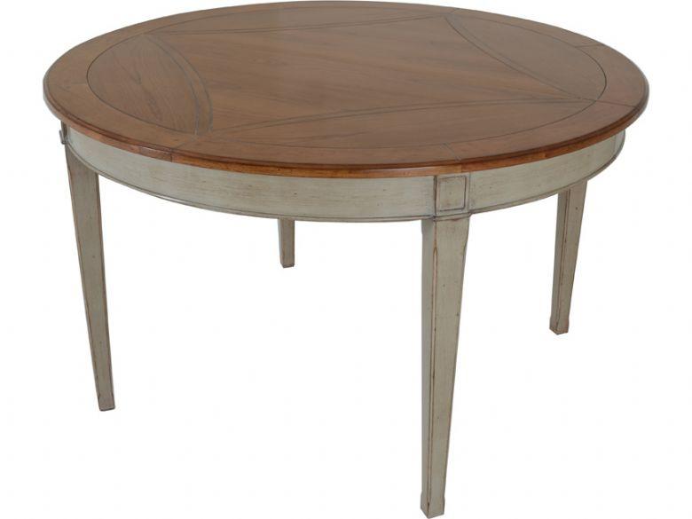 provence carte blanche extending round dining table lee longlands. Black Bedroom Furniture Sets. Home Design Ideas