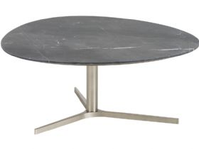 Hera black marble top coffee table
