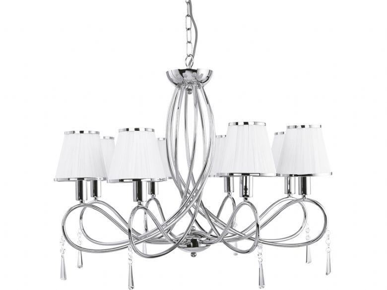8 Light  Simplicity Chrome Ceiling Light