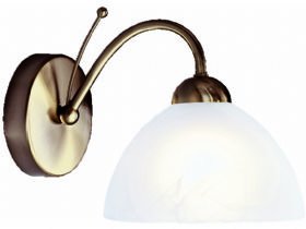Milanese Antique Brass Wall Light