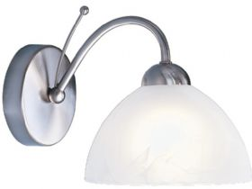Milanese Satin Silver Wall Light