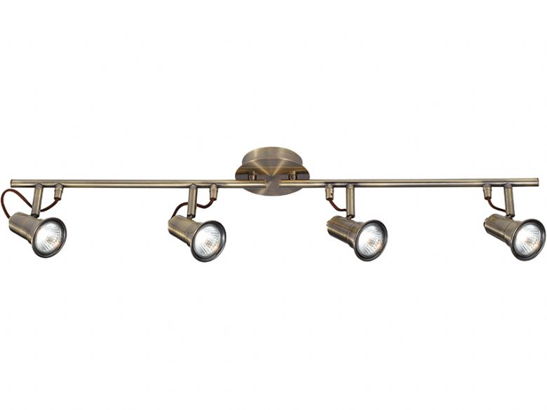 Eros 4 Light  Antique Brass Spotlights
