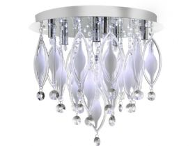 6 Light Spindle Chrome Ceiling Fitting