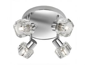 Chrome Ice Cube Diffuser Spotlight