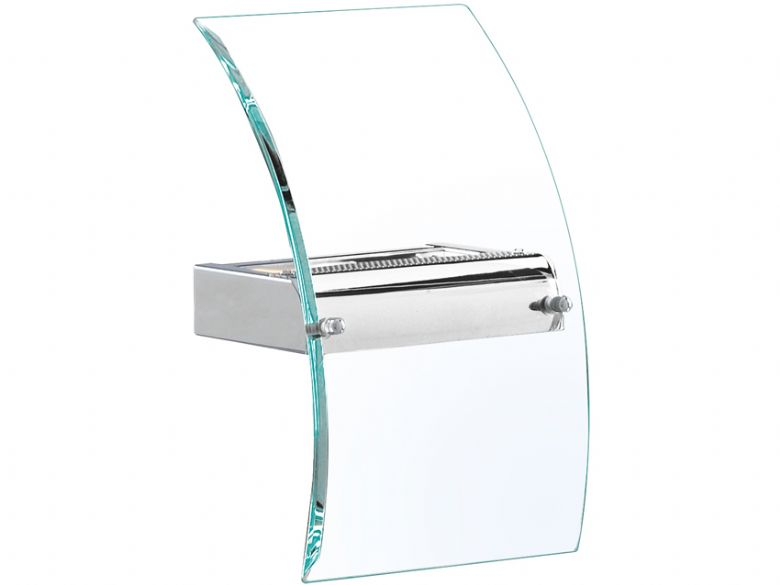 Bevelled Curved Glass Wall Light