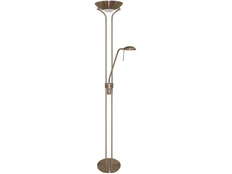 antique brass mother child halogen floor lamp lee. Black Bedroom Furniture Sets. Home Design Ideas