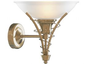 Twist Antique Brass Wall Light