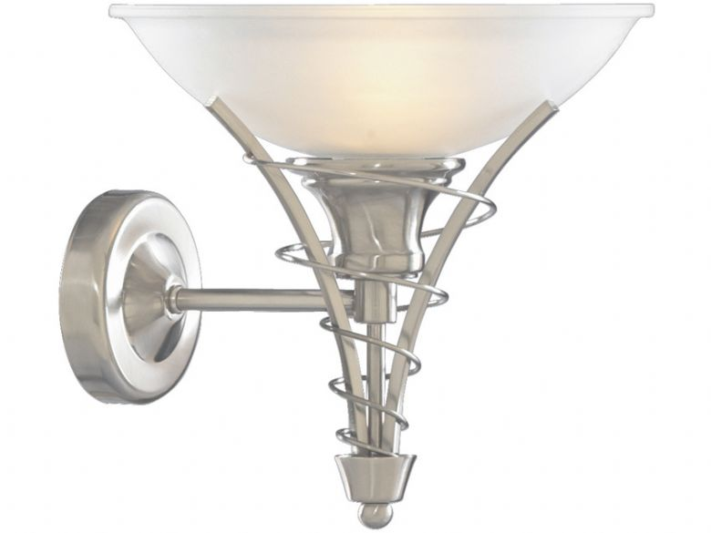Linea Satin Silver Wall Light